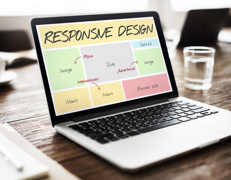 Responsive Design Layout Software Concept Stock Photo