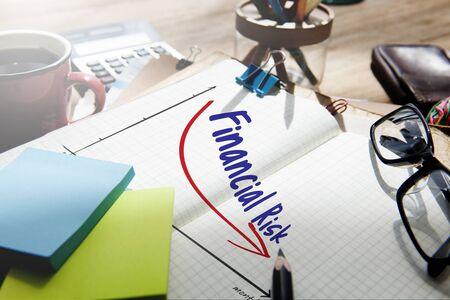 reduce risk: Recession Financial Risk Failure Decrease Concept