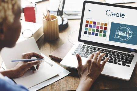 create: Create Inspiration Design Concept Stock Photo
