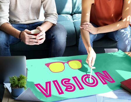 aspiration: Vision Plan Aspiration Ideas Concept Stock Photo