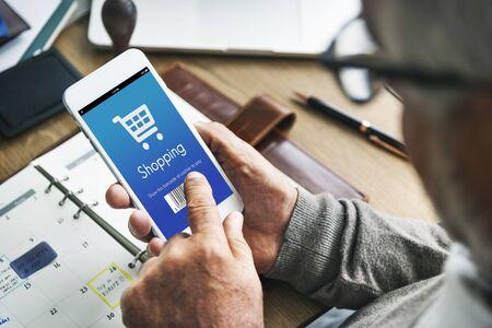 orden de compra: Shopping Purchase Order Discount Concept