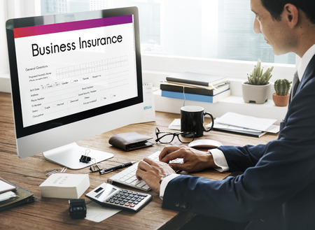 Business Insurance Benefit Document Concept 版權商用圖片