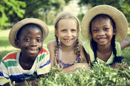 offspring: Child Friends Boys Girls Playful Nature Offspring Concept