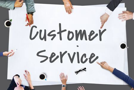 help me: Customer Service Contact Us Concept