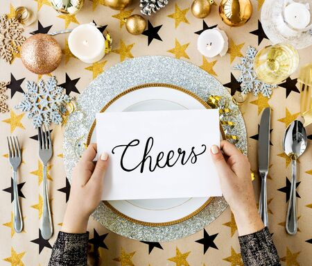Cheers Seasons Greeting New Year 2017 Stock Photo, Picture And ...
