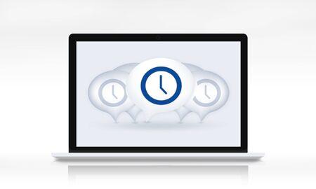 punctual: Gestión de tiempo puntual Duración Hora Minuto Concept
