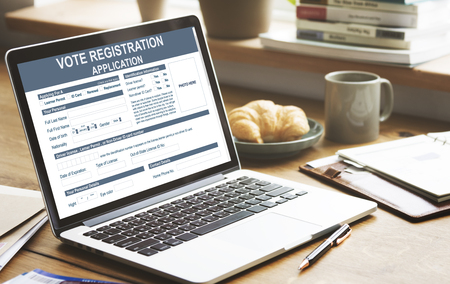 Vote Registration Application Election Concept Stock Photo