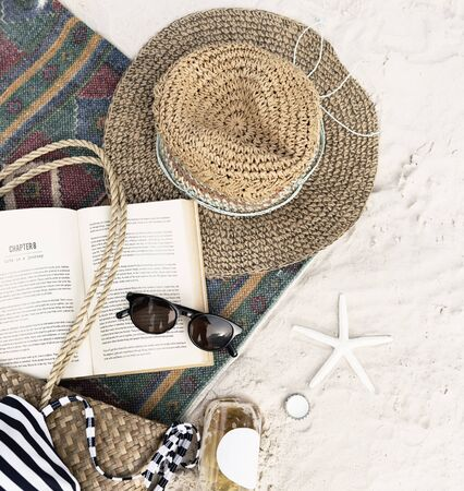 Beach Summer Holiday Vacation Book Leisure Relaxation Concept