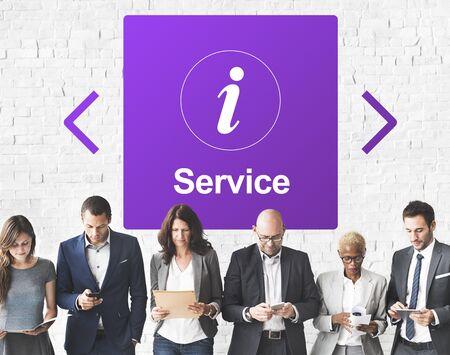 Customer Service Information Icon Concept