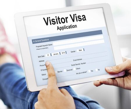 visa: Visitor Visa Application Form Concept