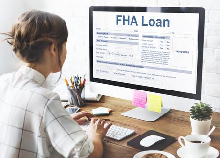 FHA 대출 연방 주택 관리 대출 개념 스톡 콘텐츠