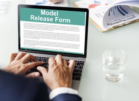 release: Model Release Form Application Concept Stock Photo