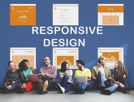 web template: Web Template Website Design Concept