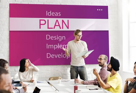analyze: Plan Research Analyze Creativity Concept Stock Photo