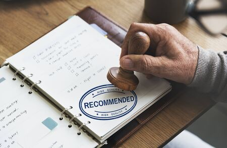 refer: Recommended Offer Refer Satisfaction Suggestion Concept Stock Photo