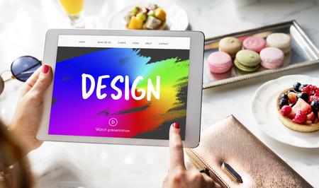 paint strokes: Design rainbow Paint Strokes Concept