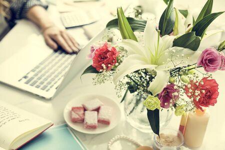 spending: Online Shopping Spending Marketing Internet Concept Stock Photo