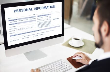 identidad personal: Personal Information Appilcation Identity Private Concept
