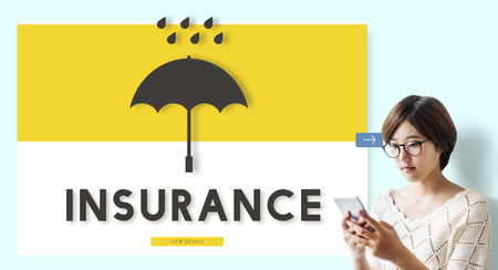 Woman with insurance concept Stock Photo