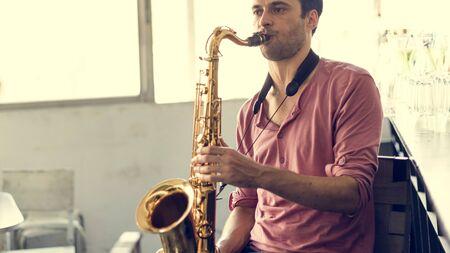 professional flute: Saxophone Symphony Musician Jazz Instrument Concept