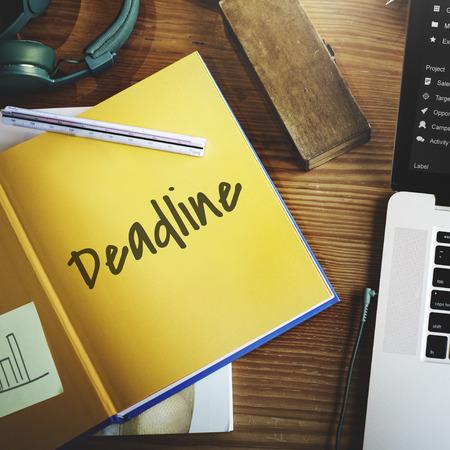 Deadline Events Planner Organizer Concept