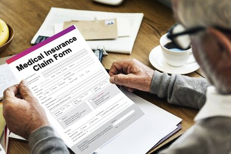 compensate: Medical Insurance Claim Form Document Concept Stock Photo
