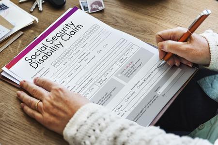 Social Security Disability Claim Concept Stock Photo