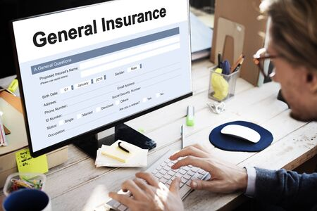 rebate: General Insurance Rebate Form Information COncept Stock Photo