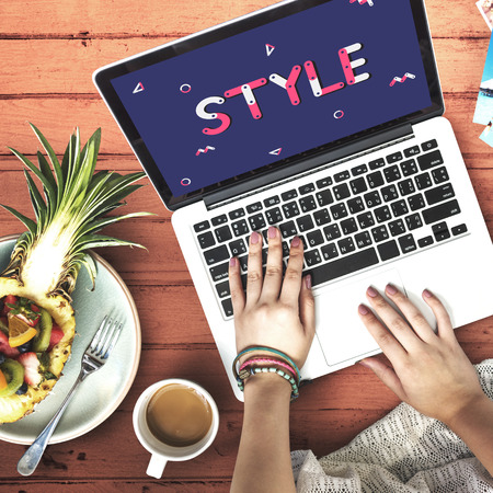 Laptop with style concept Foto de archivo - 111629465