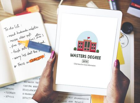 degree: Masters Degree Education Knowledge Concept Stock Photo