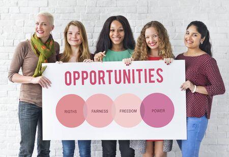 Droits des femmes Sexe égalité des chances Concept