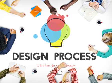 learning new skills: Creative Design Process Thinking Innovation Concept Stock Photo