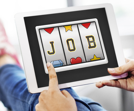 employing: Job Career Employing Hiring Occupation Work Concept