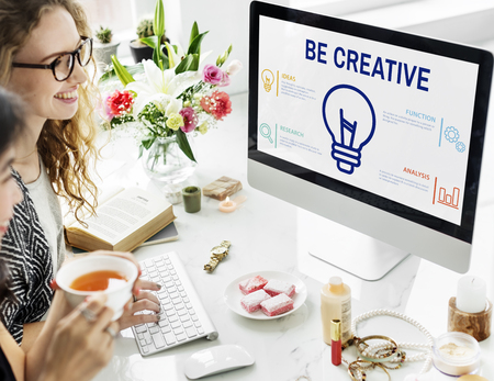 Monitor with be creative concept