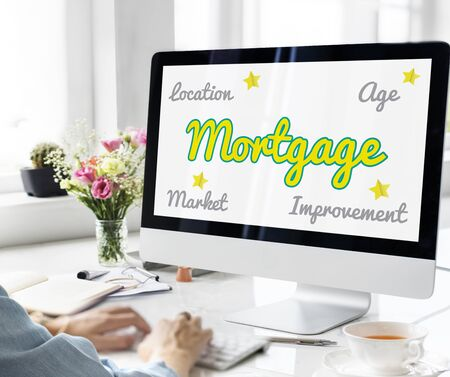 Real Estate Fancy Font Concept Stock Photo