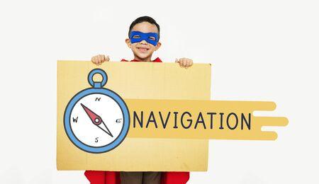 Destination Navigation Compass Graphic Concept