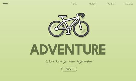 Bicycle with adventure concept 版權商用圖片