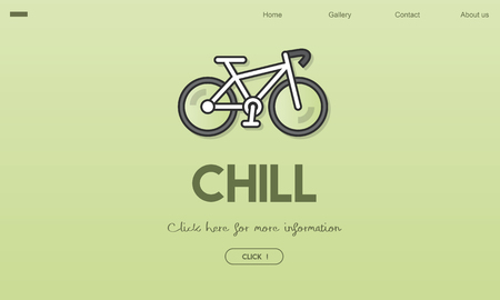 Bicycle with chill concept 版權商用圖片