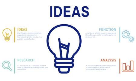 Light bulb idea concept Imagens