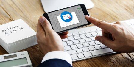 E-mail Popup Waarschuwingsvenster Concept
