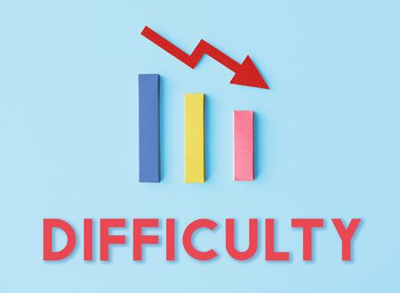 Debt Ridk Difficulty Downfall Concept