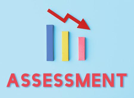 Recession Statistics Financial Failure Concept Stock Photo