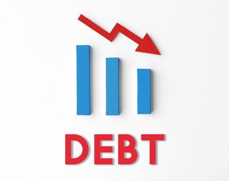 arrears: Debt Ridk Difficulty Downfall Concept