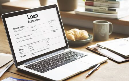 banking concept: Loan Application Form Banking Concept