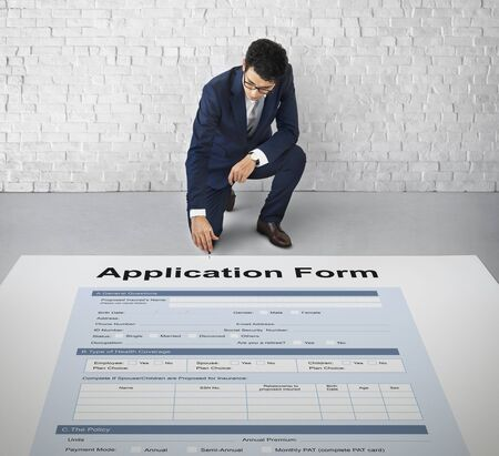 personal data privacy issues: Application Form Document Filling Concept