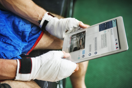 Boxer Training Learning Education Digital Tablet Concept