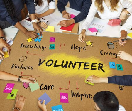 goodness: Volunteer Help Donation Hope Kindness Concept