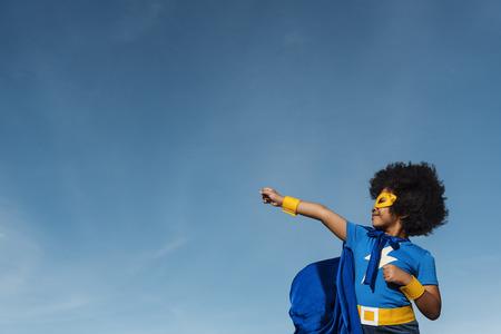 Little Boy Super Hero Concept 版權商用圖片
