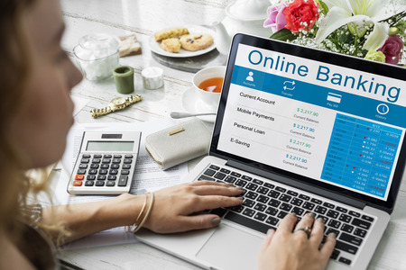 Online Banking Account Transaction Concept Stock fotó - 80851547