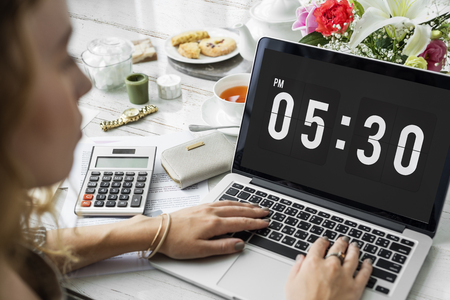 Clock Alarm Punctual Time Management Personal Organizer Concept Stok Fotoğraf - 80886174